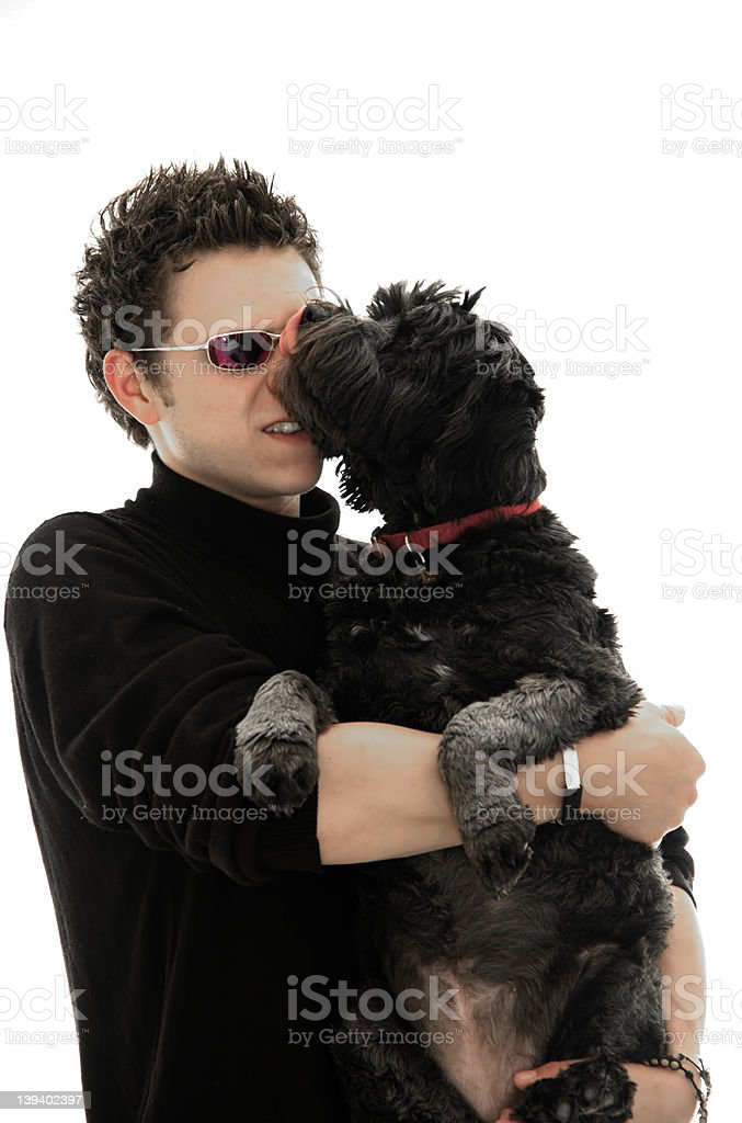 Pet Lick stock photo