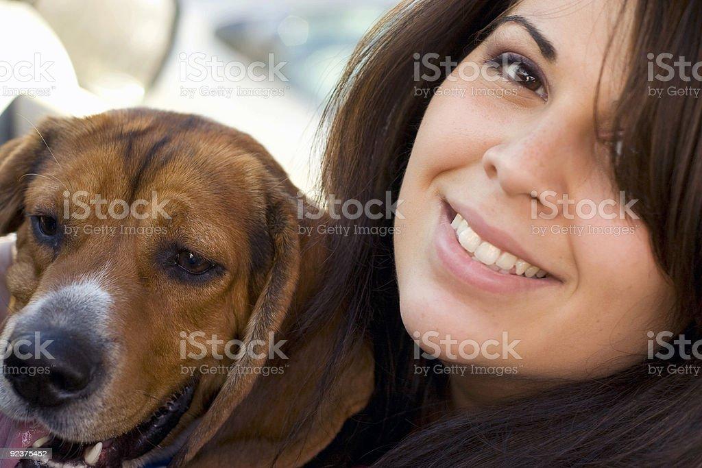 pet lover stock photo