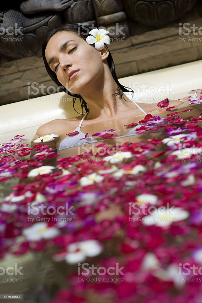 Petal Bath royalty-free stock photo