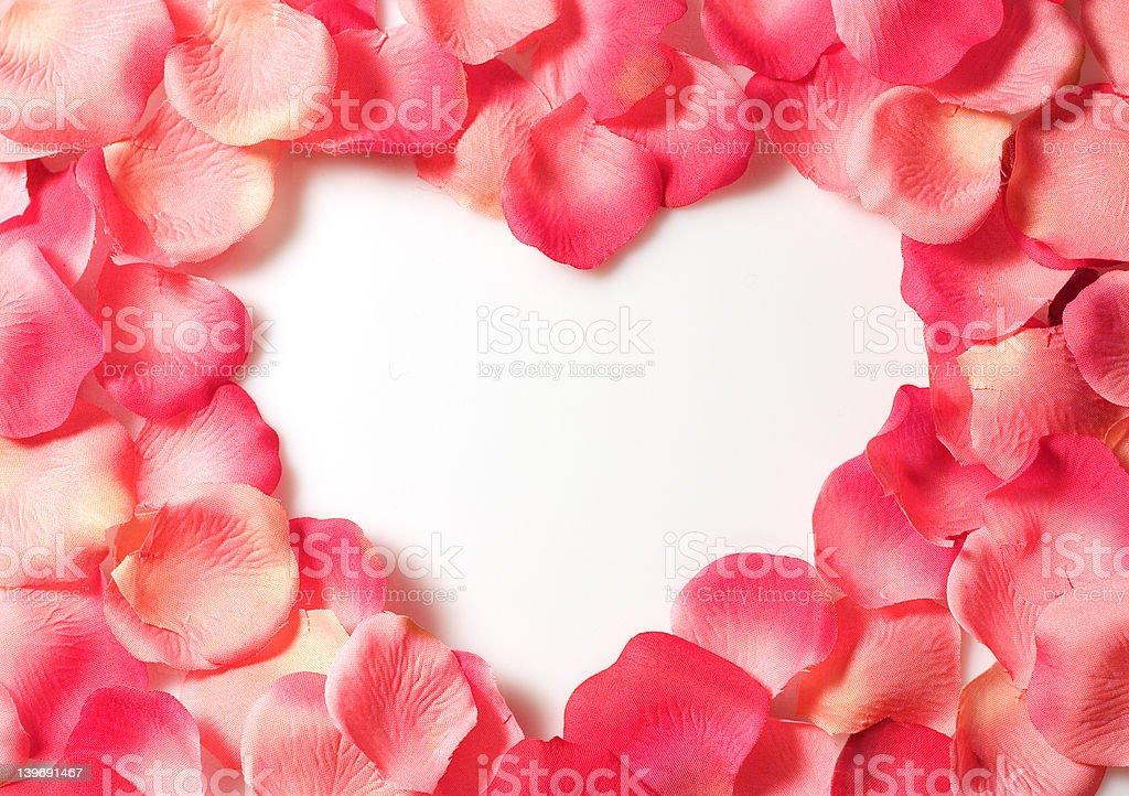 petal heart royalty-free stock photo