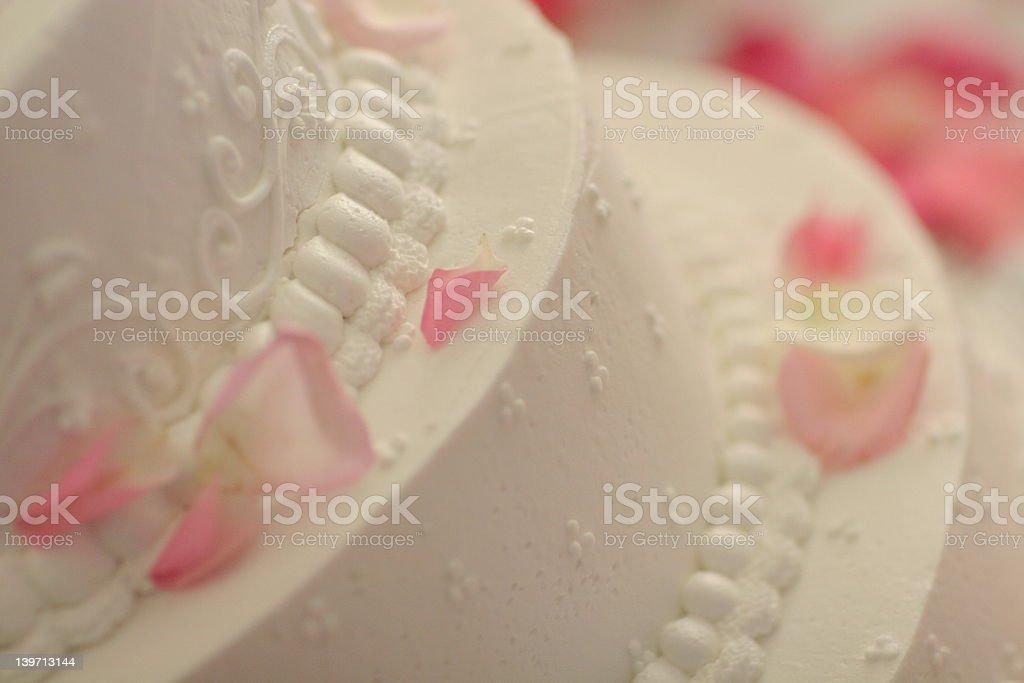 Petal wedding cake #1 royalty-free stock photo