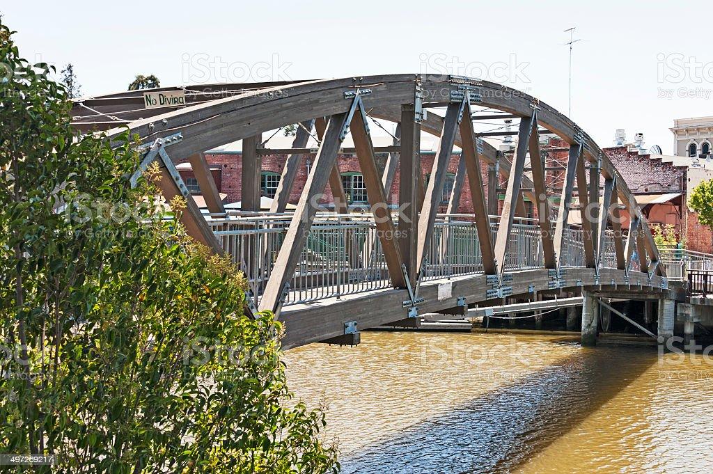 Petaluma Walking Bridge stock photo
