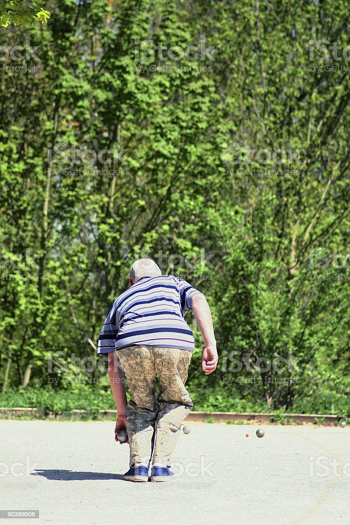 Petanque, french game. stock photo