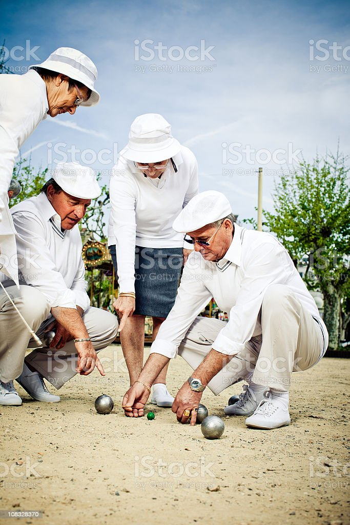 Petanque Teams stock photo