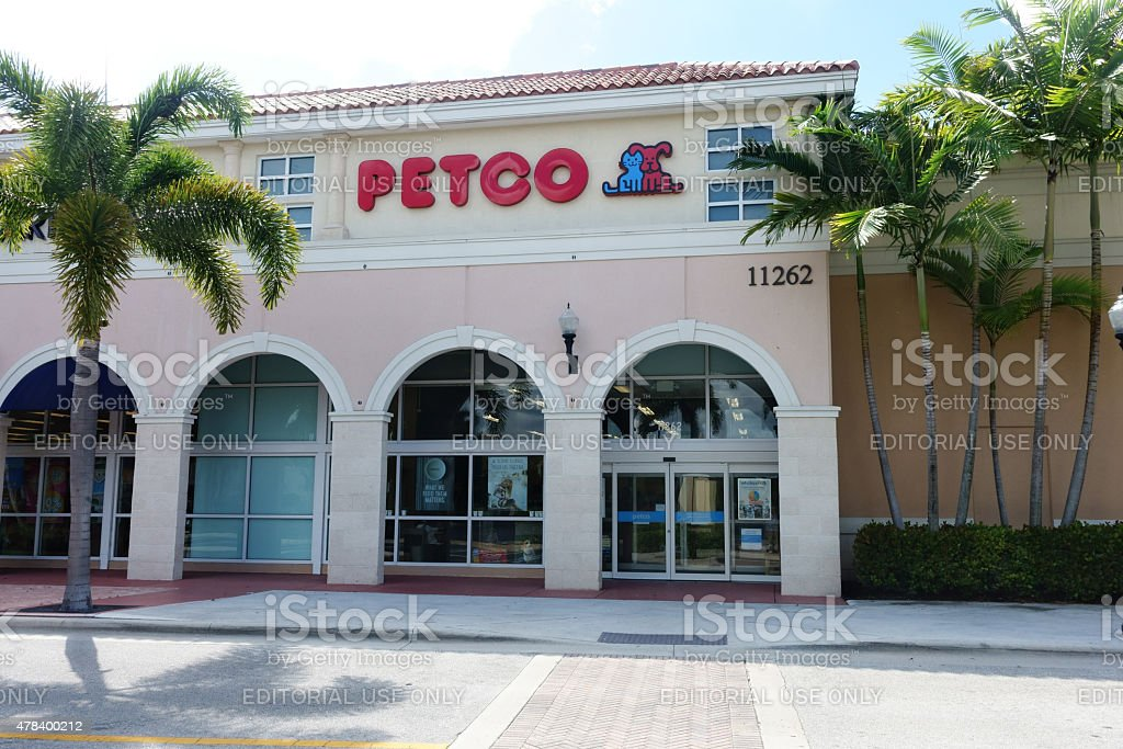 Petco pet supply store stock photo