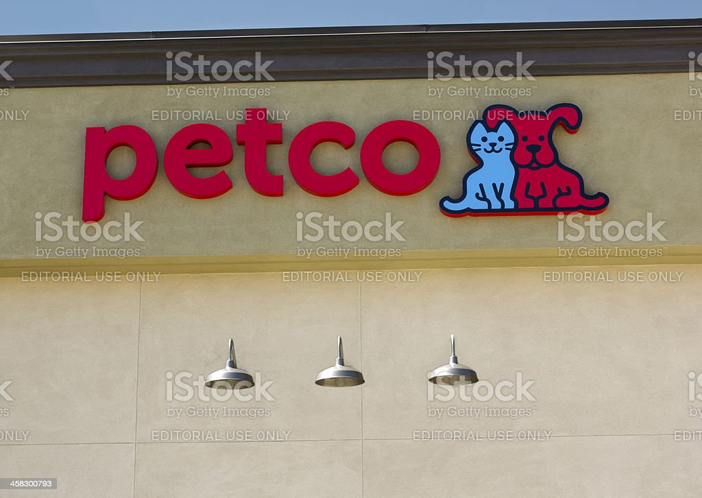 Petco store sign. stock photo