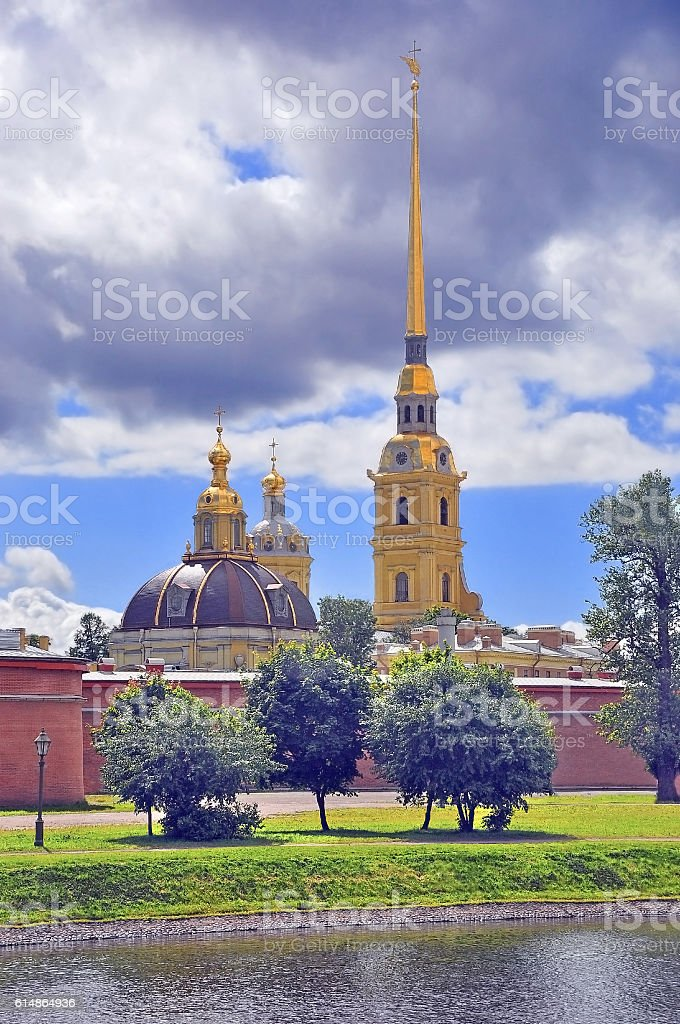 Peter and Paul Cathedral in Petersburg stock photo
