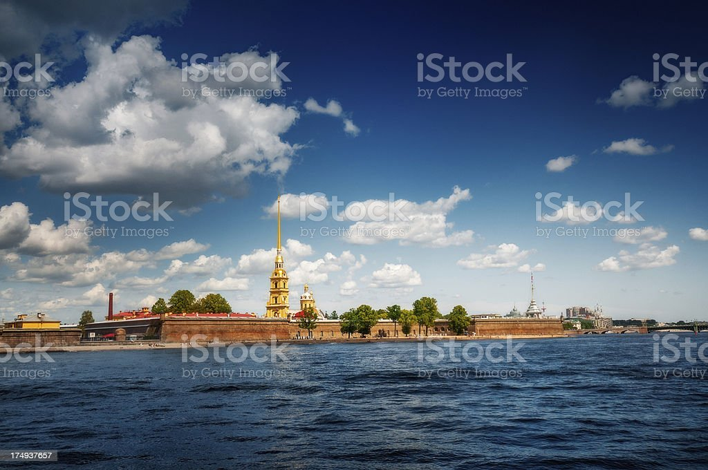 Peter and Paul Cathedral in Saint Petersburg stock photo