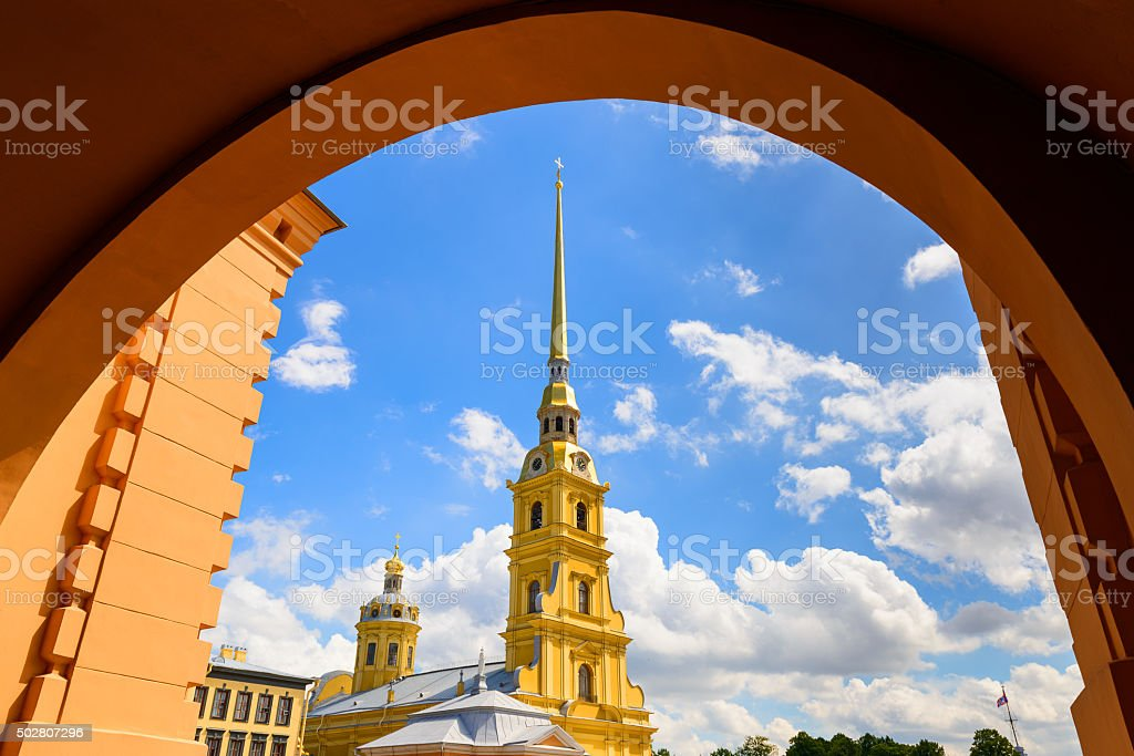 Peter and Paul Cathedral, Saint Petersburg, Russia stock photo