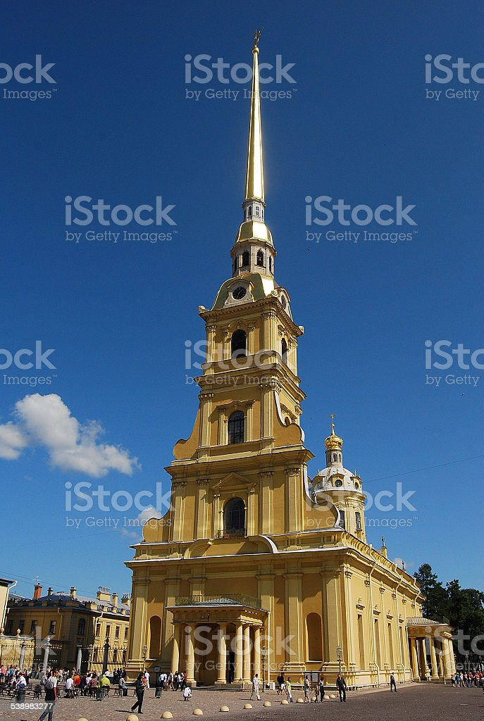 Peter and Paul Cathedral, St Petersburg stock photo