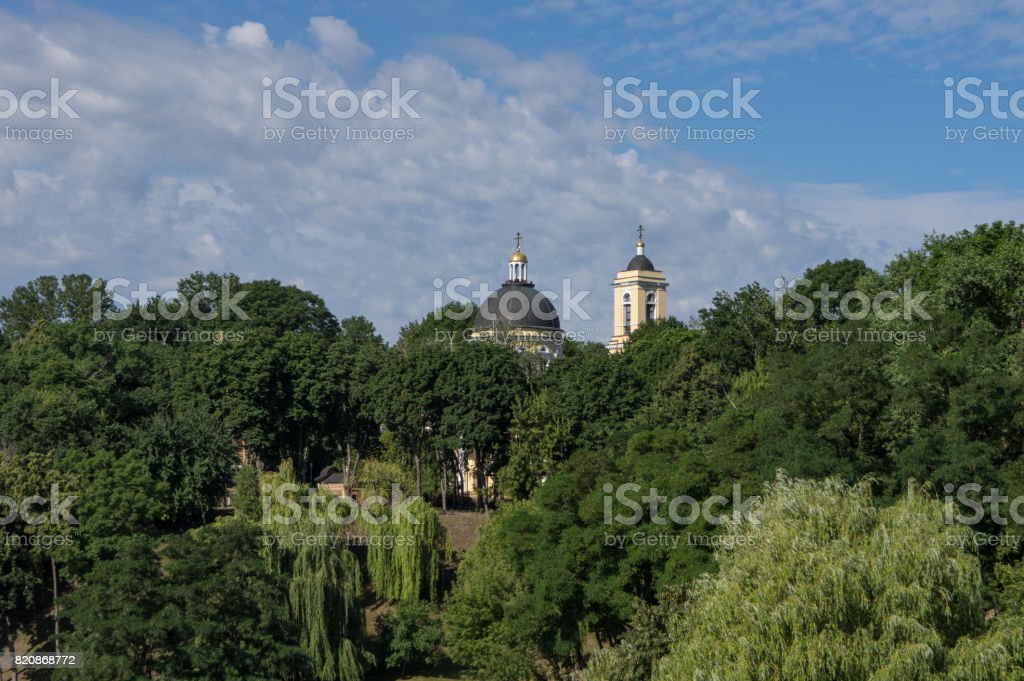 Peter and Paul Cathedral, the main temple of the Gomel Diocese. Belarus Gomel. stock photo