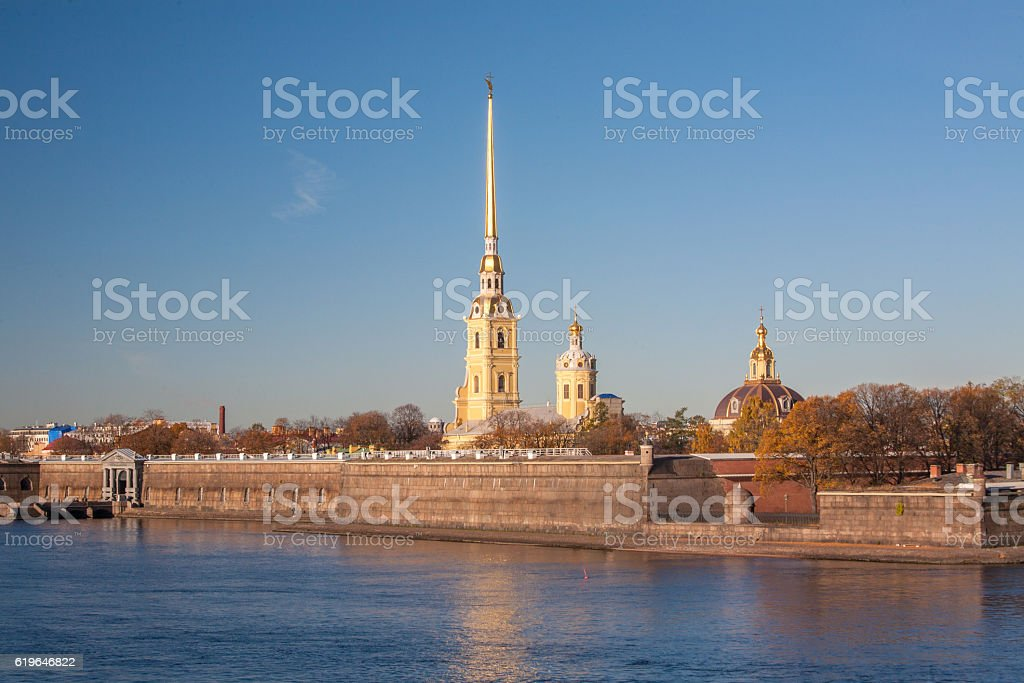 Peter and Paul Fortress, St. Petersburg stock photo