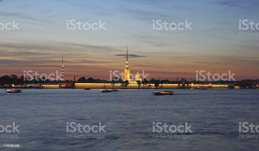 Peter and Paul Fortress, St. Petersburg, Russia royalty-free stock photo