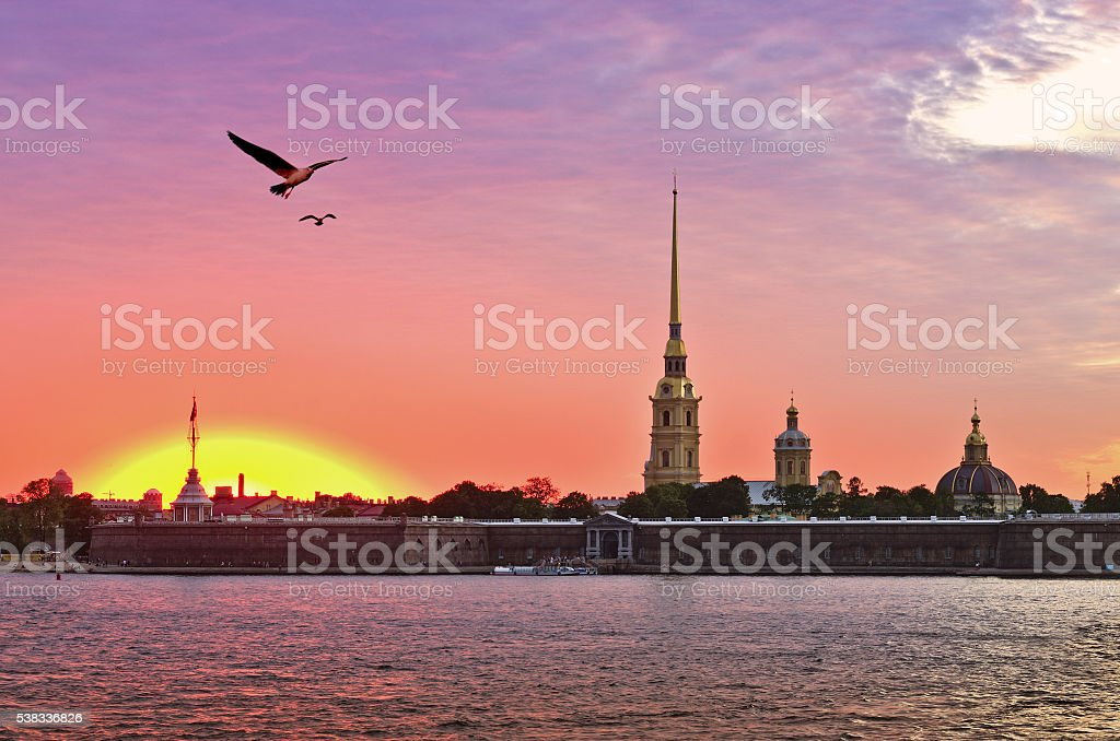 Peter and Paul Fortress, St. Petersburg, Russia stock photo