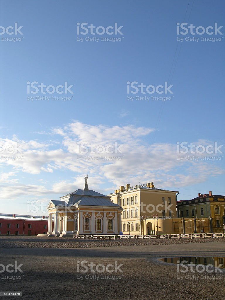Peter and Paul's fortress in Saint-Petersburg stock photo