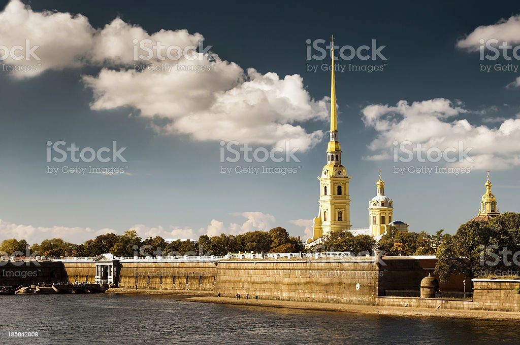 Peter And Paul's Fortress royalty-free stock photo
