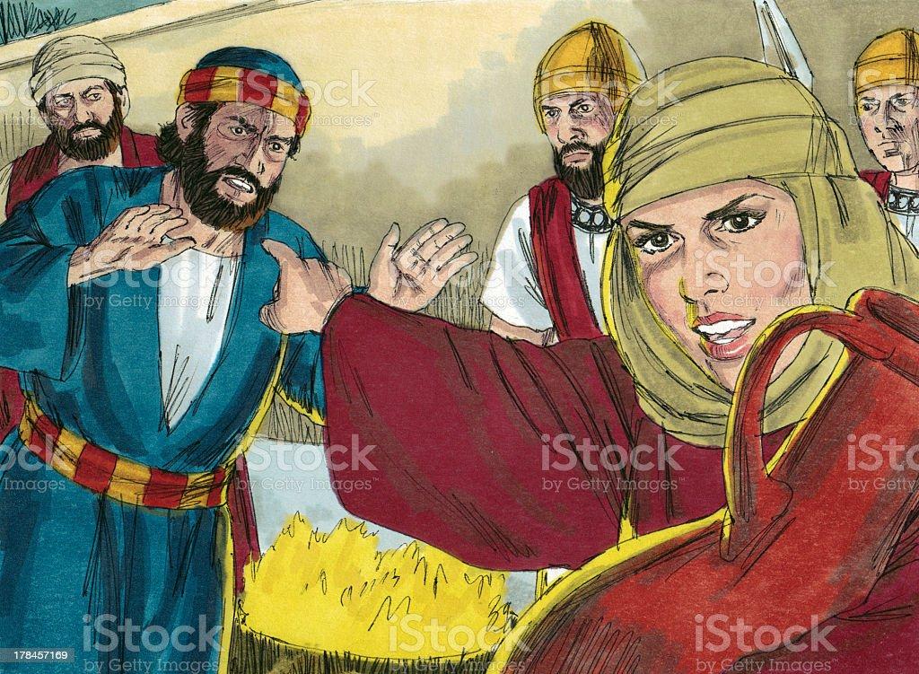 Peter Denies Jesus stock photo