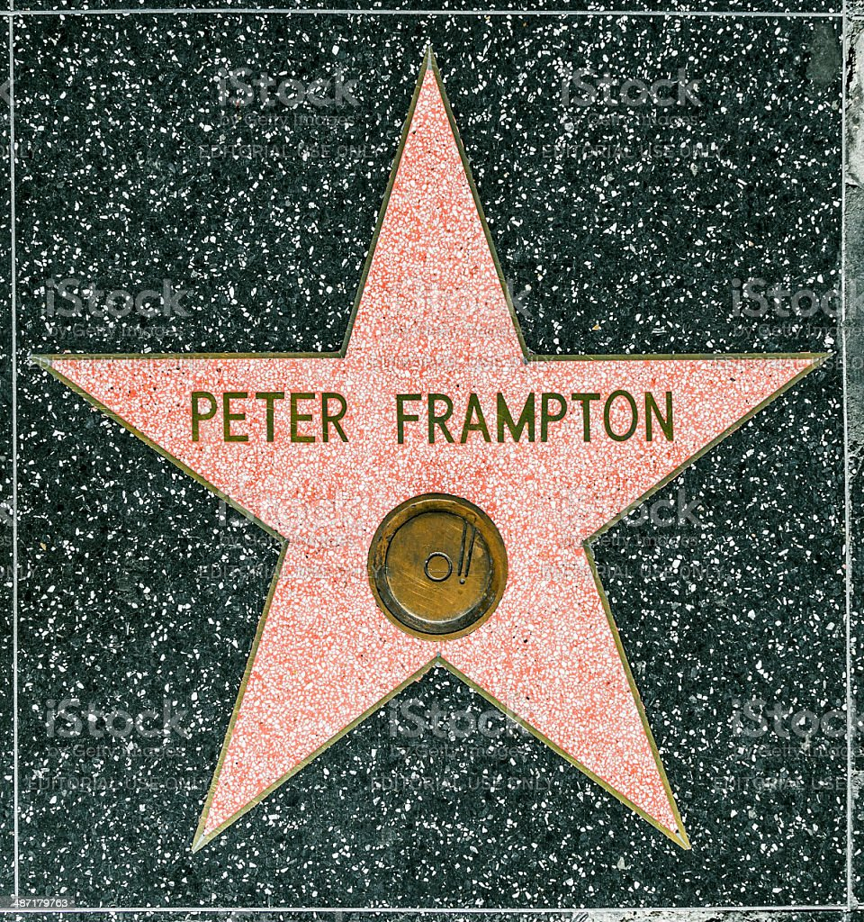 Peter Frampton's star on Hollywood Walk of Fame stock photo