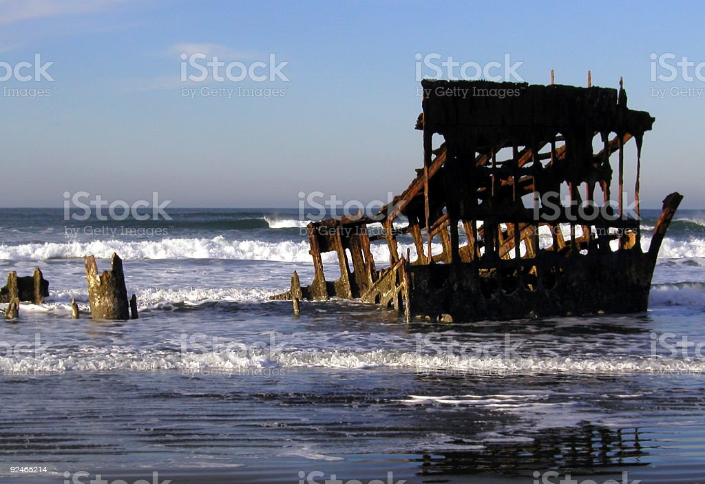 Peter Iredale Shipwreck royalty-free stock photo