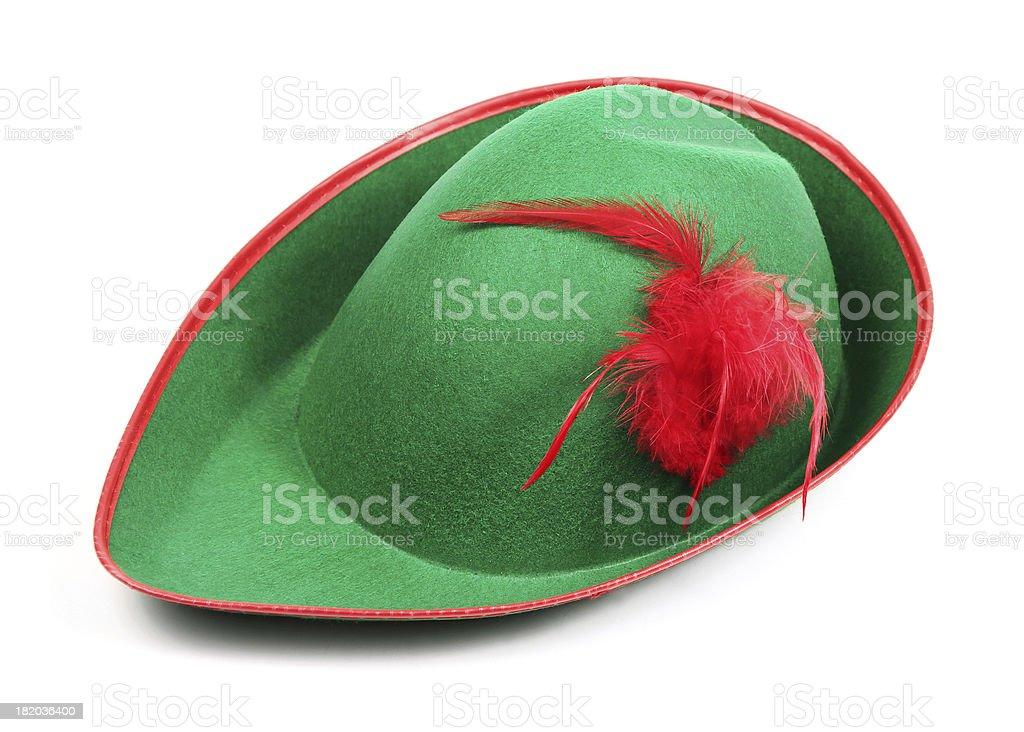 Peter Pan Hat on white stock photo