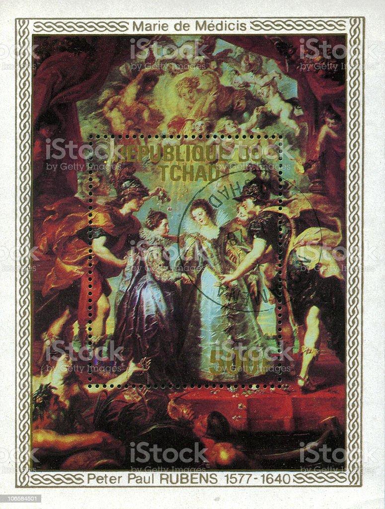 Peter Paul Rubens 'Marie de Medici' stock photo