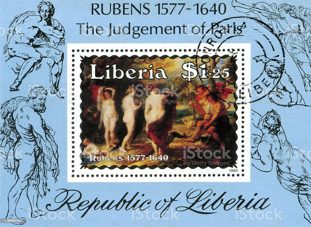 Peter Paul Rubens 'The Jugement of Paris' stock photo