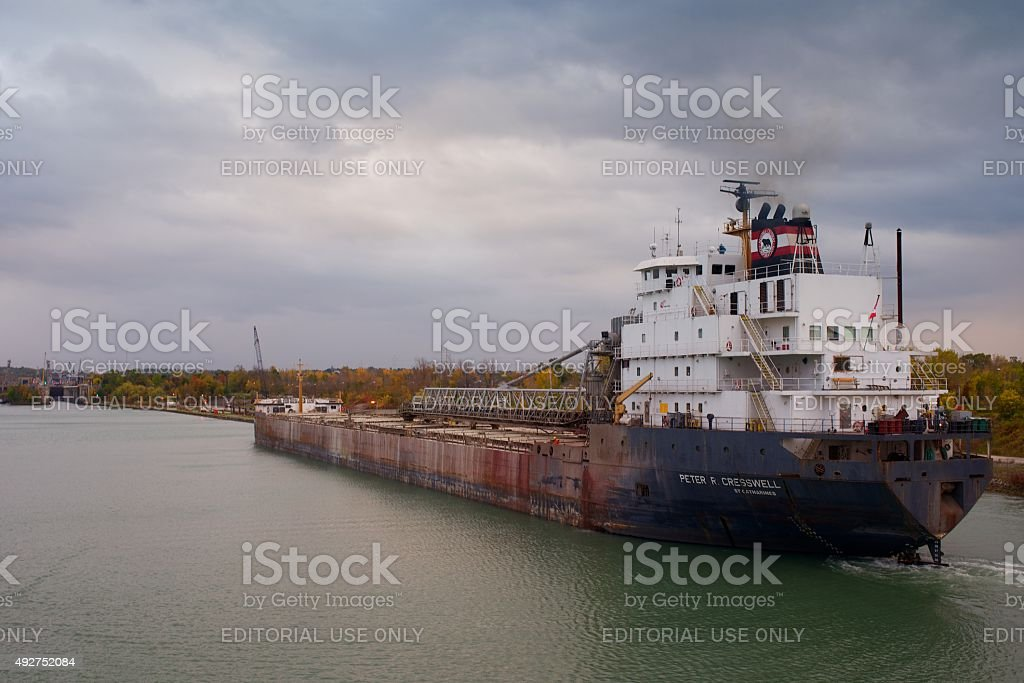 Peter R. Cresswell bulk carrier on the Welland Canal stock photo