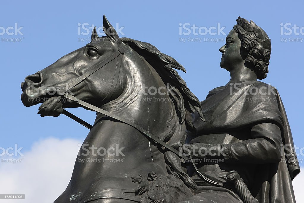 'Peter the Great statue in St. Petersburg, Russia' stock photo