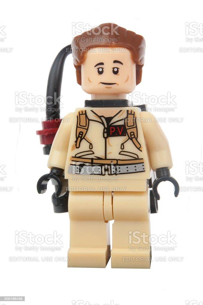 Peter Venkman Ghostbusters Lego Minifigure stock photo