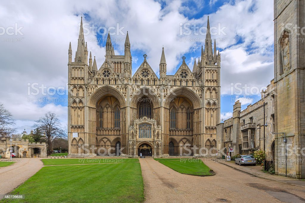 Peterborough Cathedral stock photo