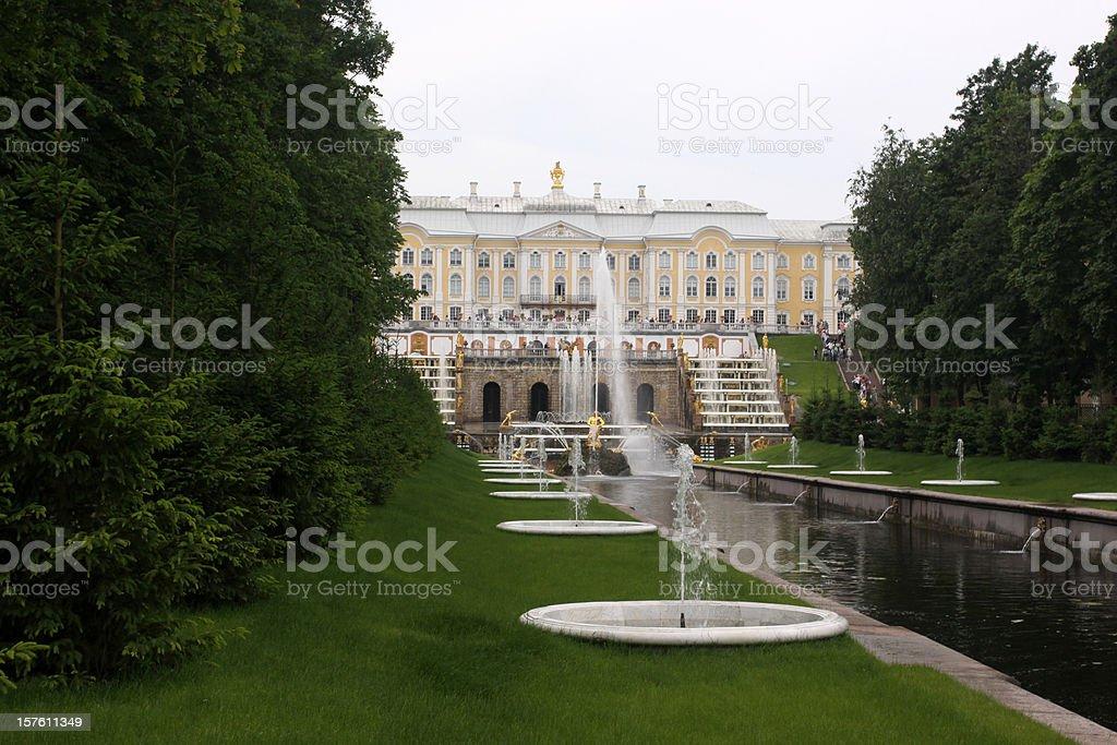 Petergof Palace: the Samson Fountain royalty-free stock photo