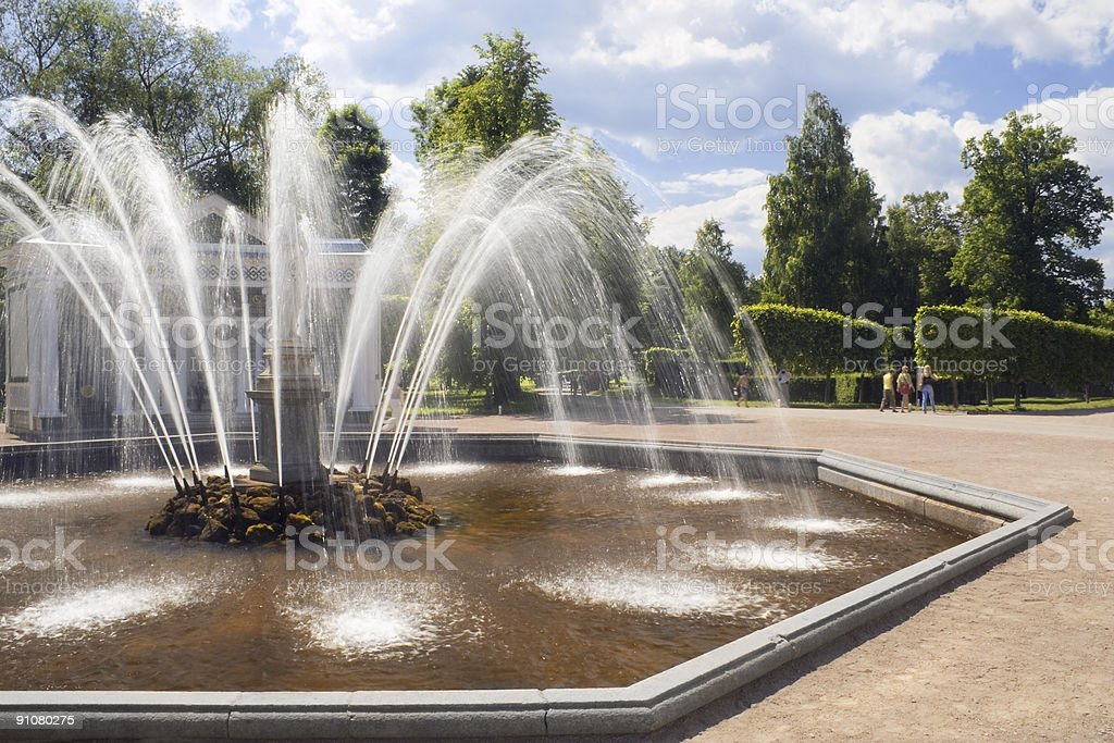 Peterhof fountains royalty-free stock photo
