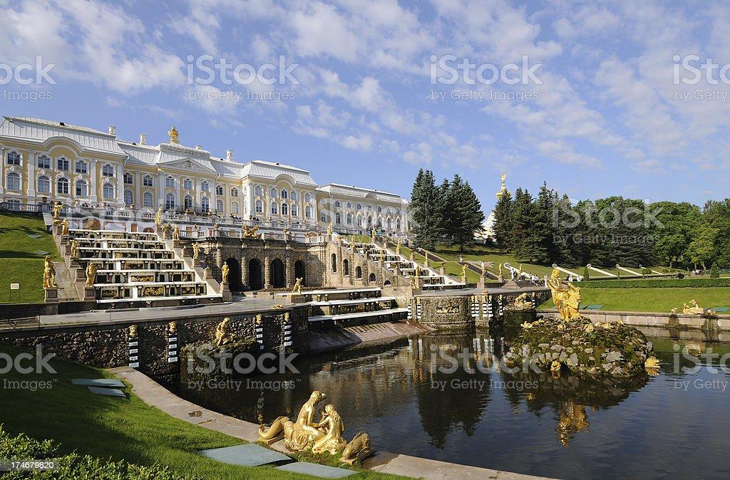 Peterhof Gardens and Fountains stock photo