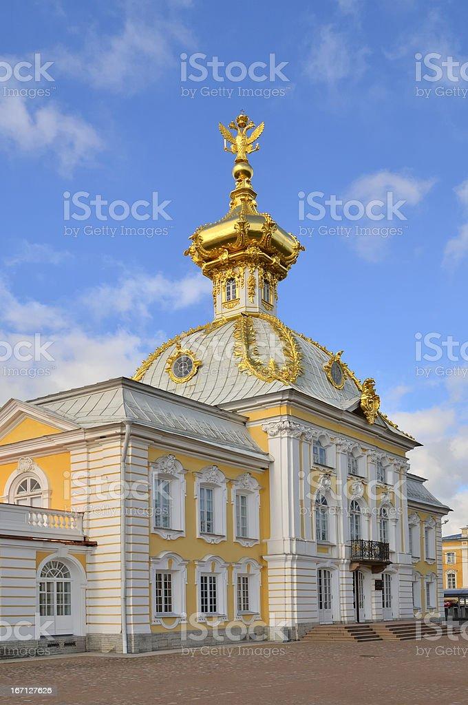 Peterhof Grand Palace West End stock photo
