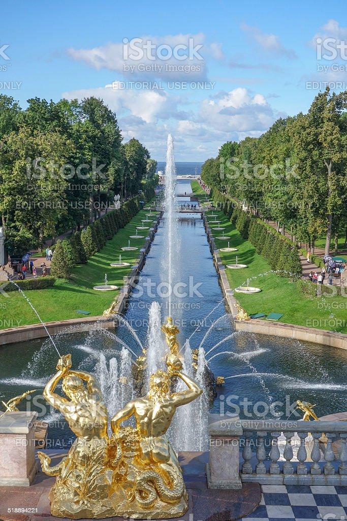 Peterhof Palace Garden stock photo