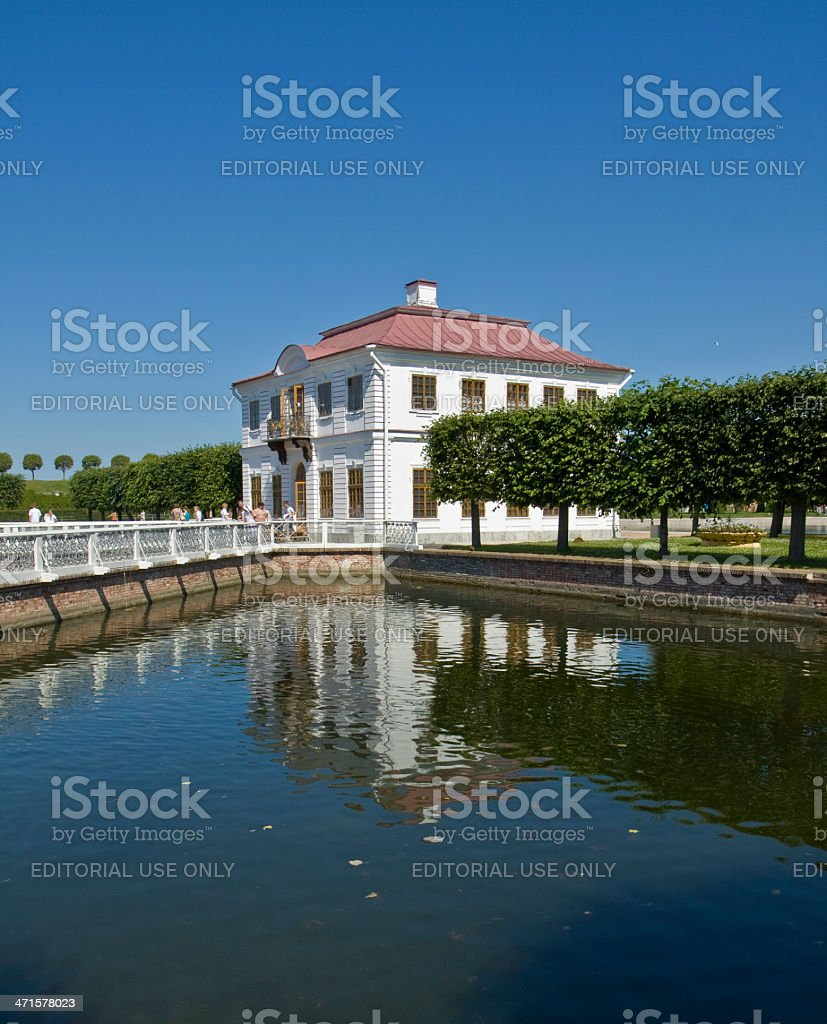 Peterhof, palace Marli royalty-free stock photo
