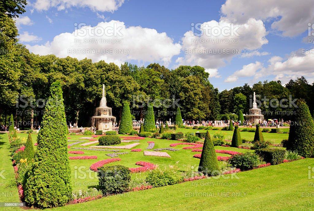 Peterhof Palace stock photo