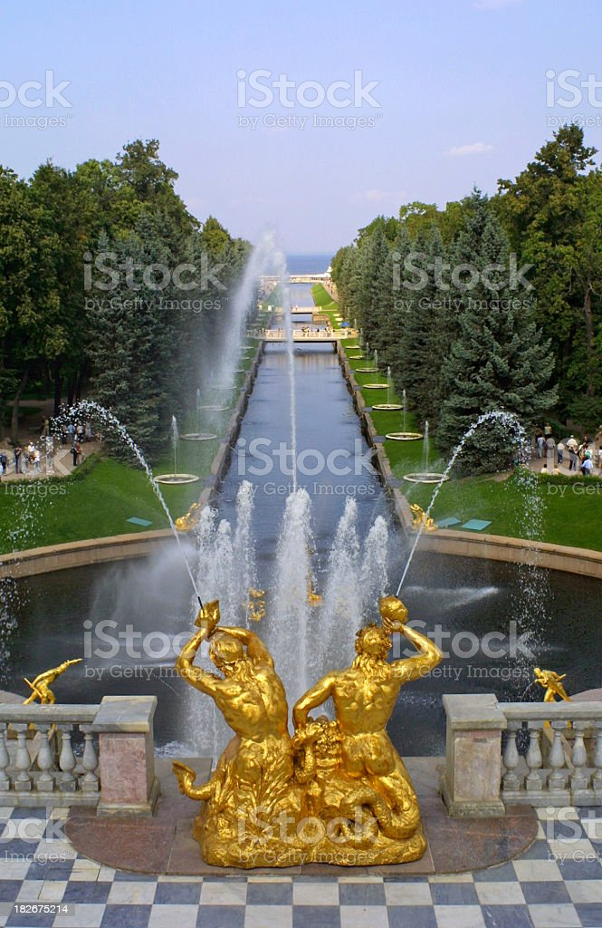 Peterhof stock photo