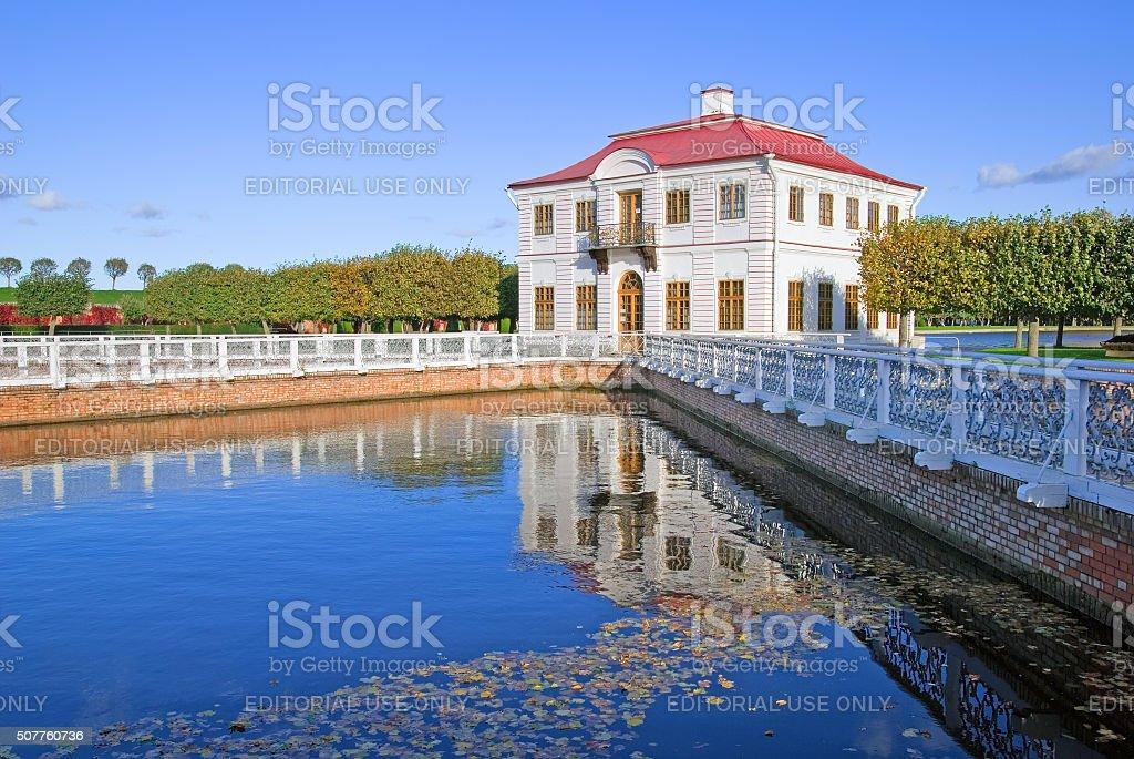 Peterhof. Russia. Marly Palace stock photo