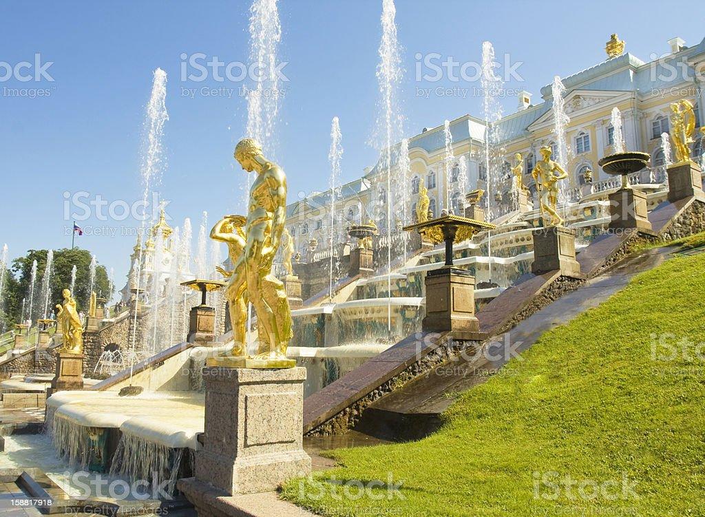Peterhof, Russia stock photo