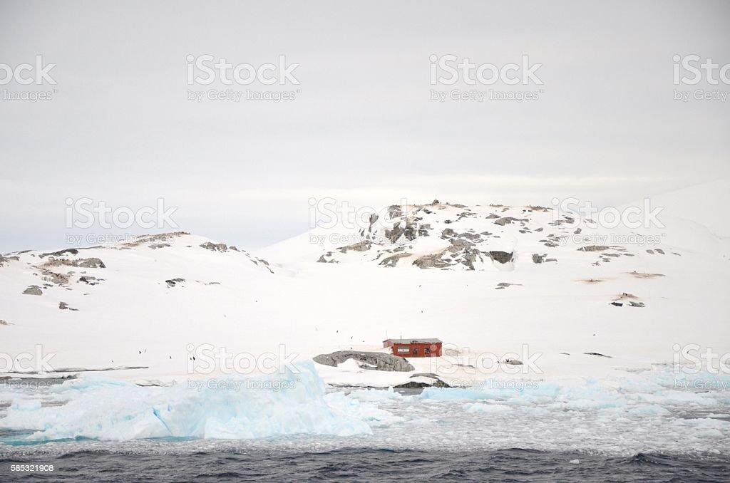 Petermann Island Building stock photo