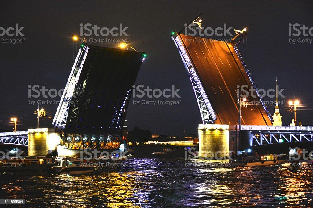Petersburg. The breeding of the bridge stock photo
