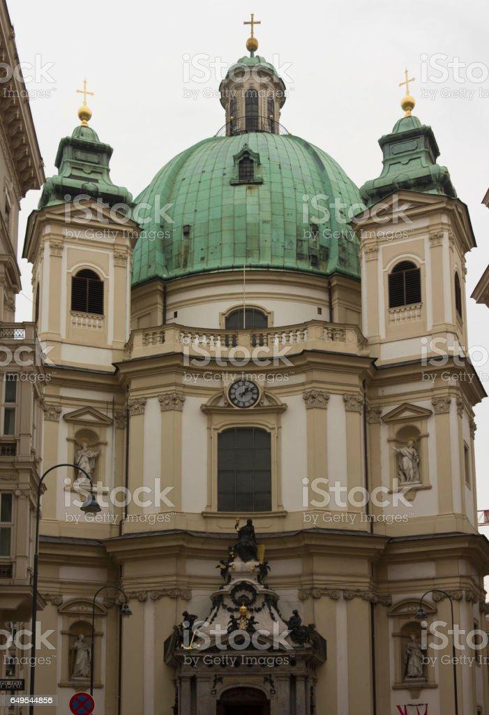 Peterskirche church in Vienna stock photo