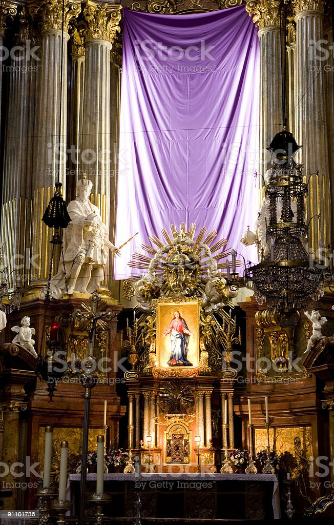 Peterskirche - High Altar royalty-free stock photo