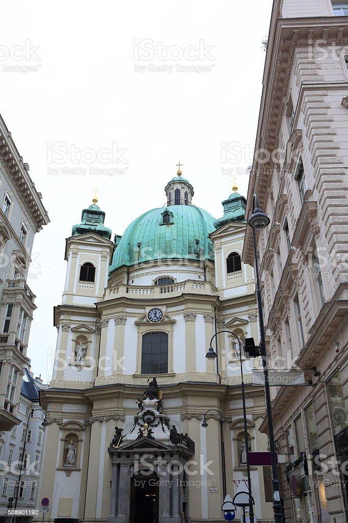 Peterskirche in Vienna stock photo