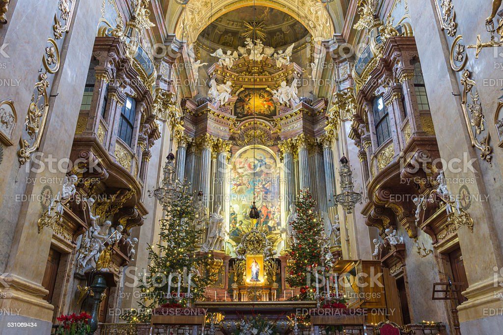 Peterskirche,  Vienna, Austria stock photo