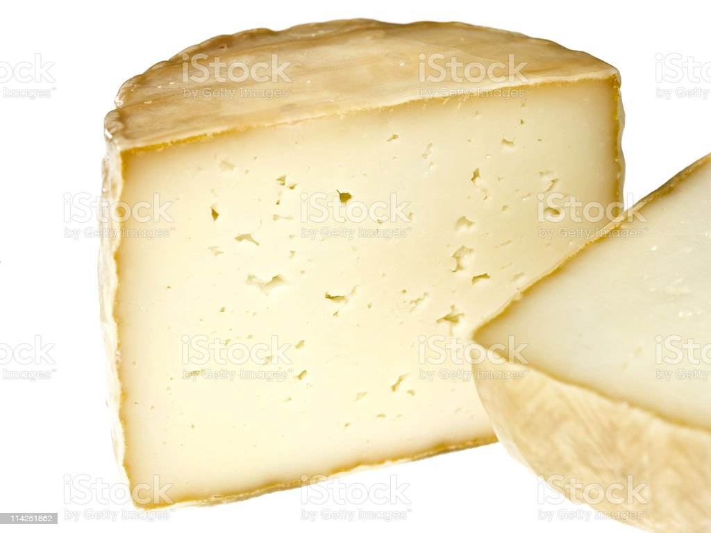 Petit Basque Cheese royalty-free stock photo