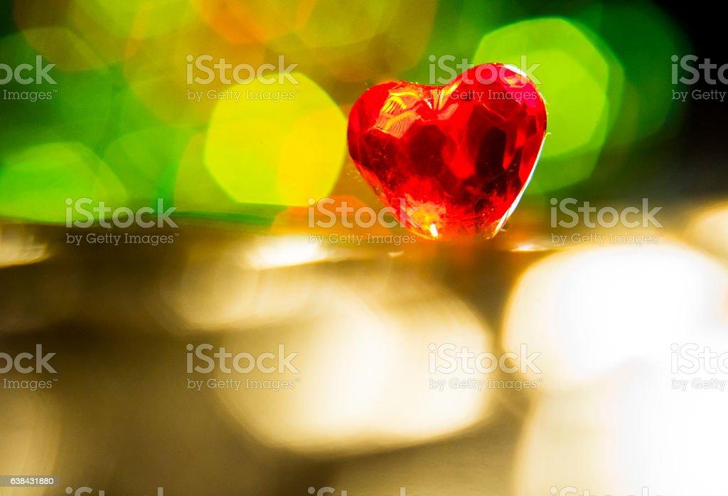 Petit coeur lumineux stock photo