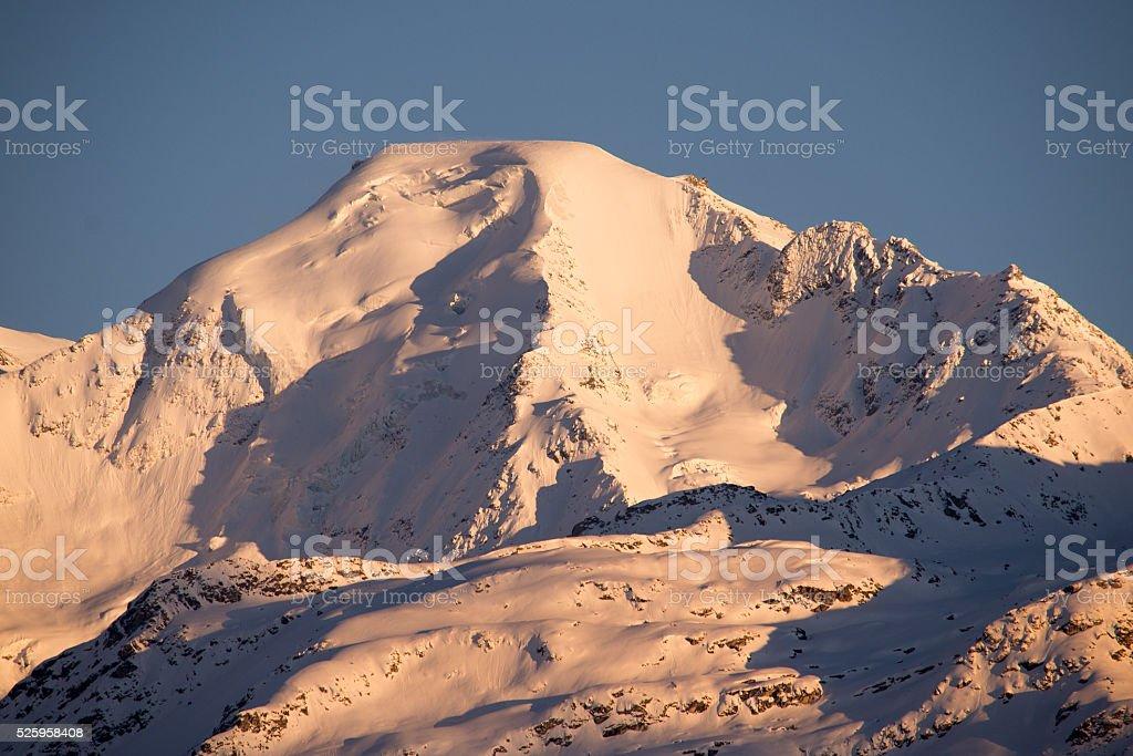 Petit Combin sunset Landscape stock photo