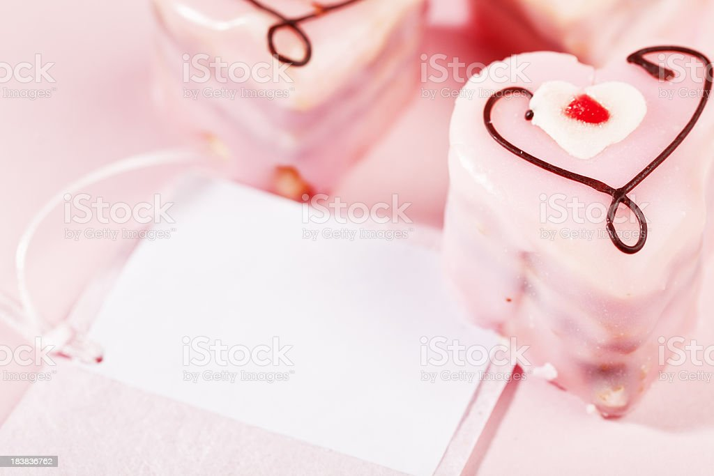 petit four in heart shape stock photo